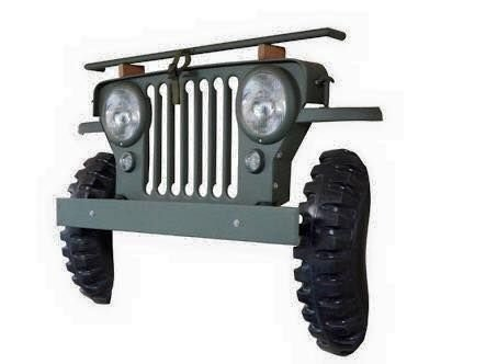 GRADE QUADRO DECORATIVO JEEP MILITAR