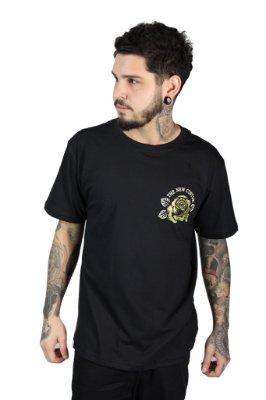 Camiseta  New Custom Gold Preta