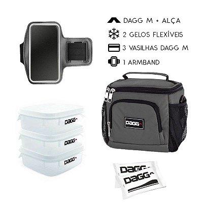 Kit Bolsa Térmica Fitness M + Braçadeira Dagg Armband