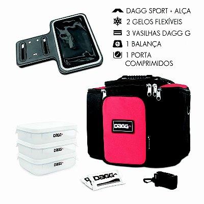 kit bolsa vermelha g braçadeira
