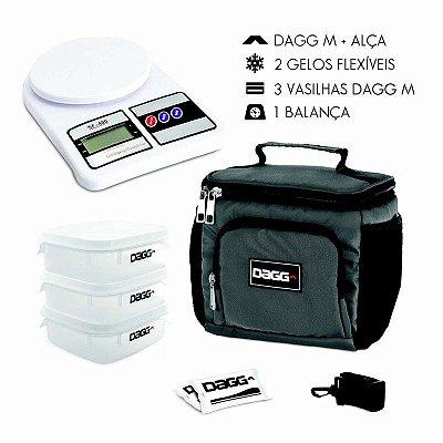 Kit Bolsa Térmica Fitness Dagg - Cinza M + Balança Digital