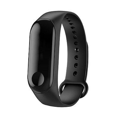 Relógio Bracelete Pedômetro Inteligente Bluetooth Preto