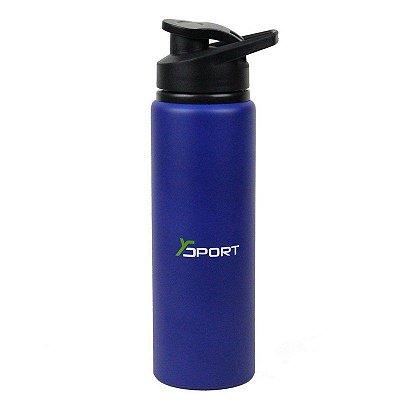 Garrafa Squeeze Térmica Running Premium Azul