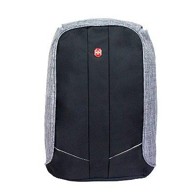 Mochila Anti Furto para Notebook  YS28057  Impermeável USB  - Cinza