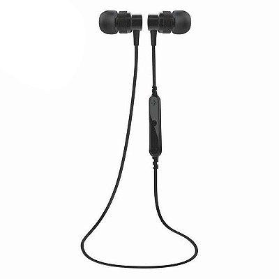 Fone de Ouvido Bluetooth Sports Preto