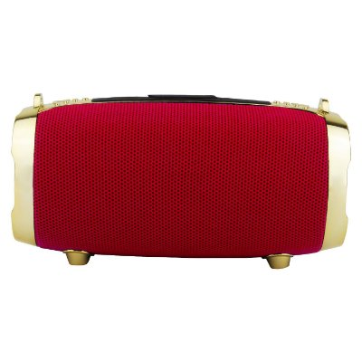 Caixa de Som Bluetooth Portátil Round Vermelha