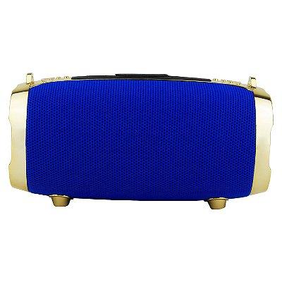 Caixa de Som Bluetooth Portátil Round Azul