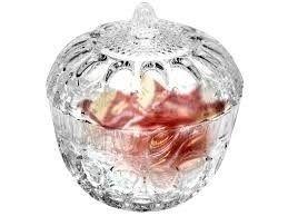 Bomboniere de vidro 14 cm.