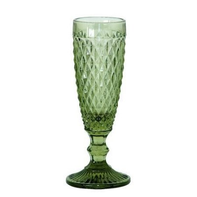 Taça bico de jaca para champagne 100 ml verde.
