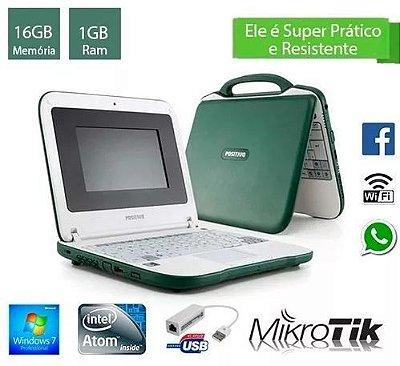 Notebook Pequeno e Compacto Intel 1gb de Ram e 16gb HD