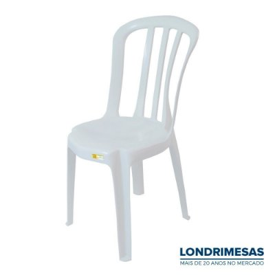Cadeira Plástica Bistro Branca 140 kg
