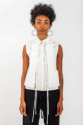 Camisa Colete  - Off white