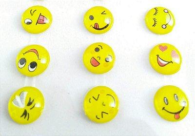 Cartela Emoji 3D Autocolante