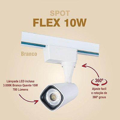 SPOT PARA TRILHO - FLEX 10W - BRANCO