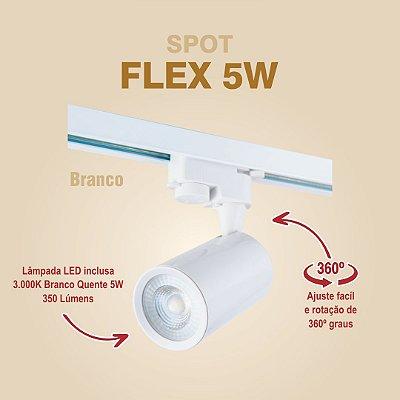 SPOT PARA TRILHO - FLEX 5W - BRANCO