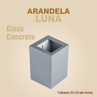 ARANDELA LUNA - CINZA CONCRETO