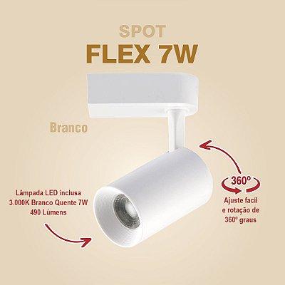 SPOT PARA TRILHO - FLEX 7W - BRANCO