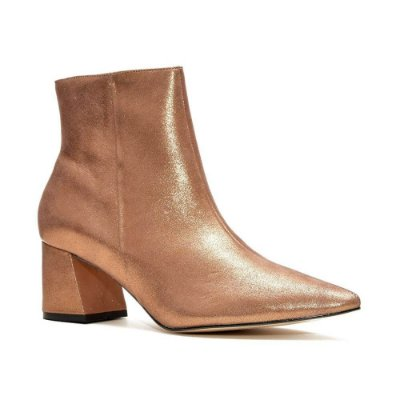 Sapato Feminino Bota Mirela Bronze