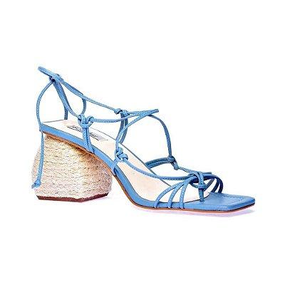 Sandália Poliana Tiras Azul Claro - K. Daher