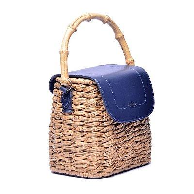 Bolsa Feminina Couro Isabela Azul Marinho
