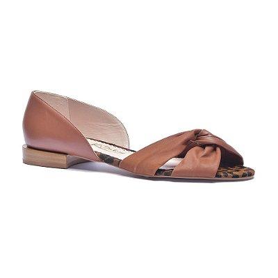 Sapato Feminino Peep Toe Marli Argila