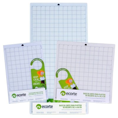 COMBO - Kit 1 base de corte da marca Ecorte 30,5 x 30,5 cm,  1 base de corte 30,5 x 60 cm e 1 base A4 20,3x 30,5 cm