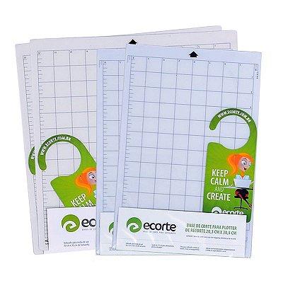 COMBO - Kit 2 bases de corte da marca Ecorte 30,5 x 30,5 cm,  2 bases A4 20,3x 30,5 cm