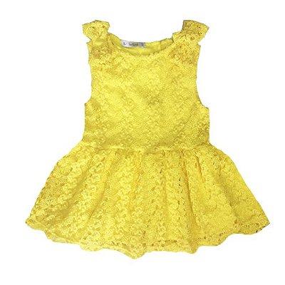 Vestido de Renda Luna Amarelo