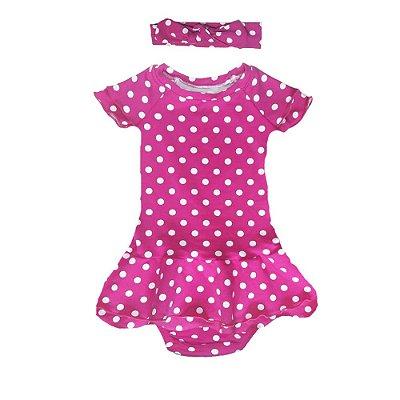 Vestido Dora Poá Pink