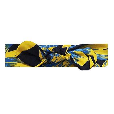 Faixa Floral Azul e Amarelo