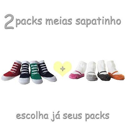 2 Packs de Meias Sapatinho