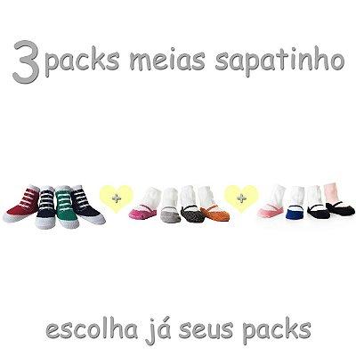 3 Packs de meias sapatinho