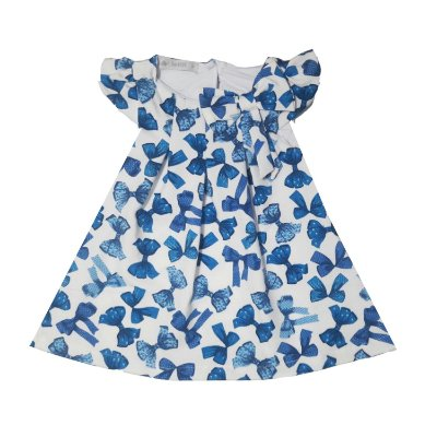 Vestido Letiti Magali Laço Azul