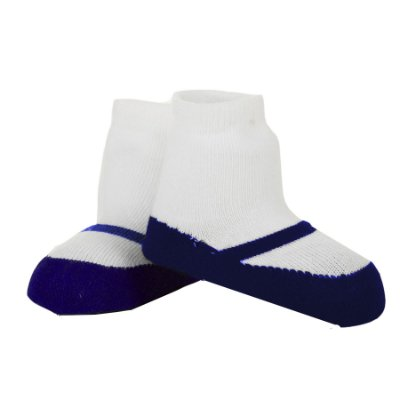 Meia Sapatinho Meia Julia Azul (Tam 0-12 meses)