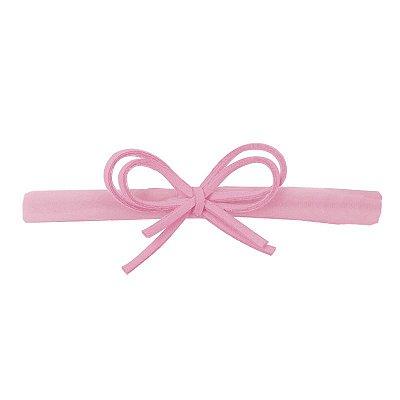 Faixa Laço Camurça Rosa P