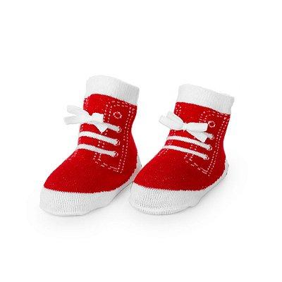 Meia Sapatinho Dudu Vermelho (Tam 0-12 meses)