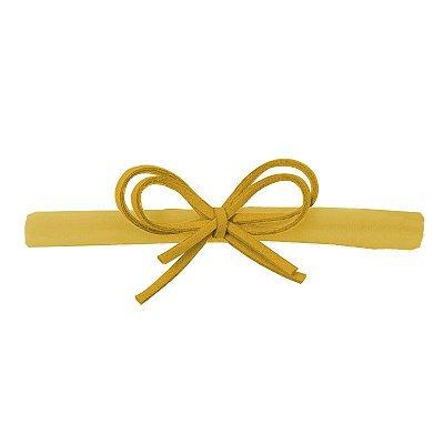 Faixa Laço Camurça Amarela