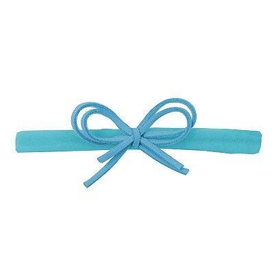 Faixa Laço Camurça Azul P
