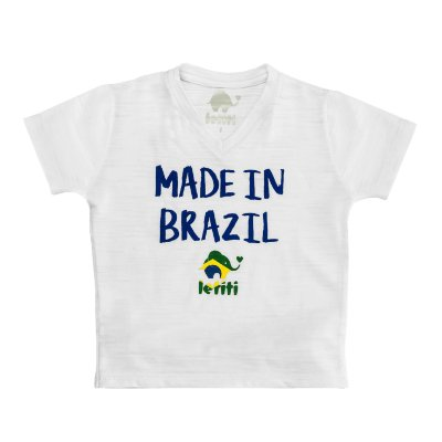 Camiseta Letiti Branca Made In Brazil