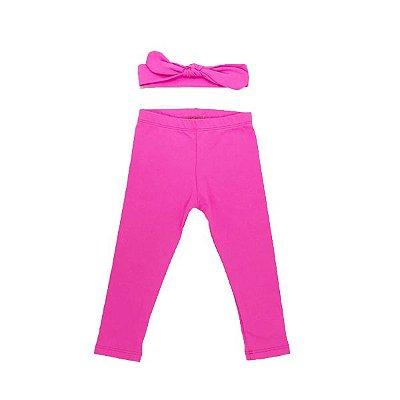 Legging + Faixinha Pink Neon