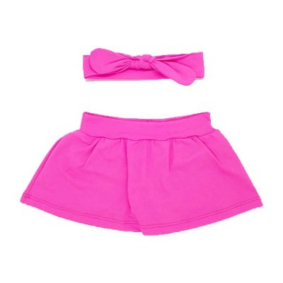 Shorts Saia + Faixinha Pink Neon