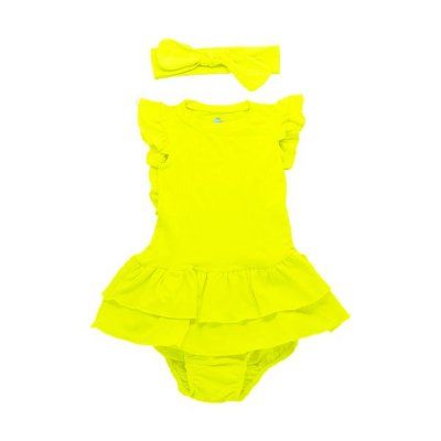Vestido Amelie Amarelo Neon