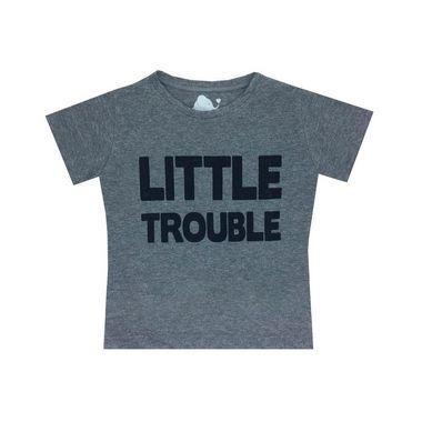 camisetas Letiti Unissex TROUBLE Infantil