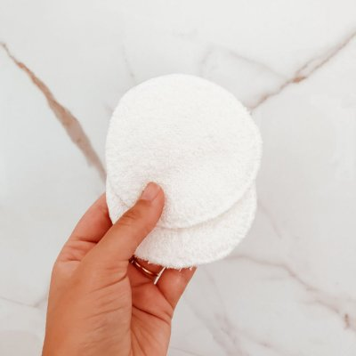 Eco Pads - discos de algodão reutilizáveis para limpeza facial - 4 brancos