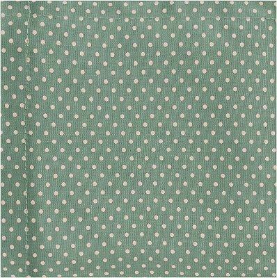Guardanapo ecológico reutilizável 100% algodão - verde