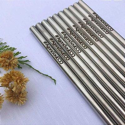 Canudo de inox - 7,5 mm (grosso) reto