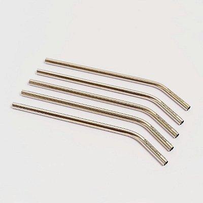 Canudo de inox - 7,5 mm (grosso) curvado