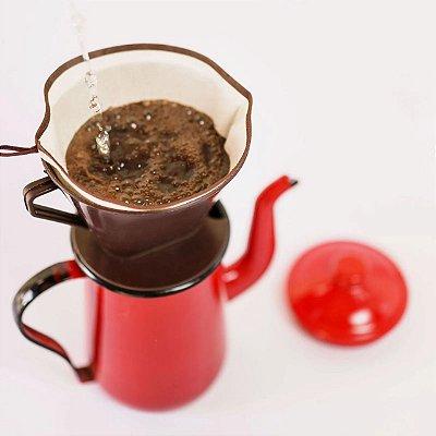 Eco filtro de café 100% algodão - n.º 4