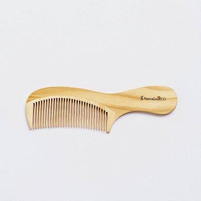 Pente de madeira - dentes médios