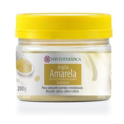 Argila Amarela em pó 200g - Phytoterápica